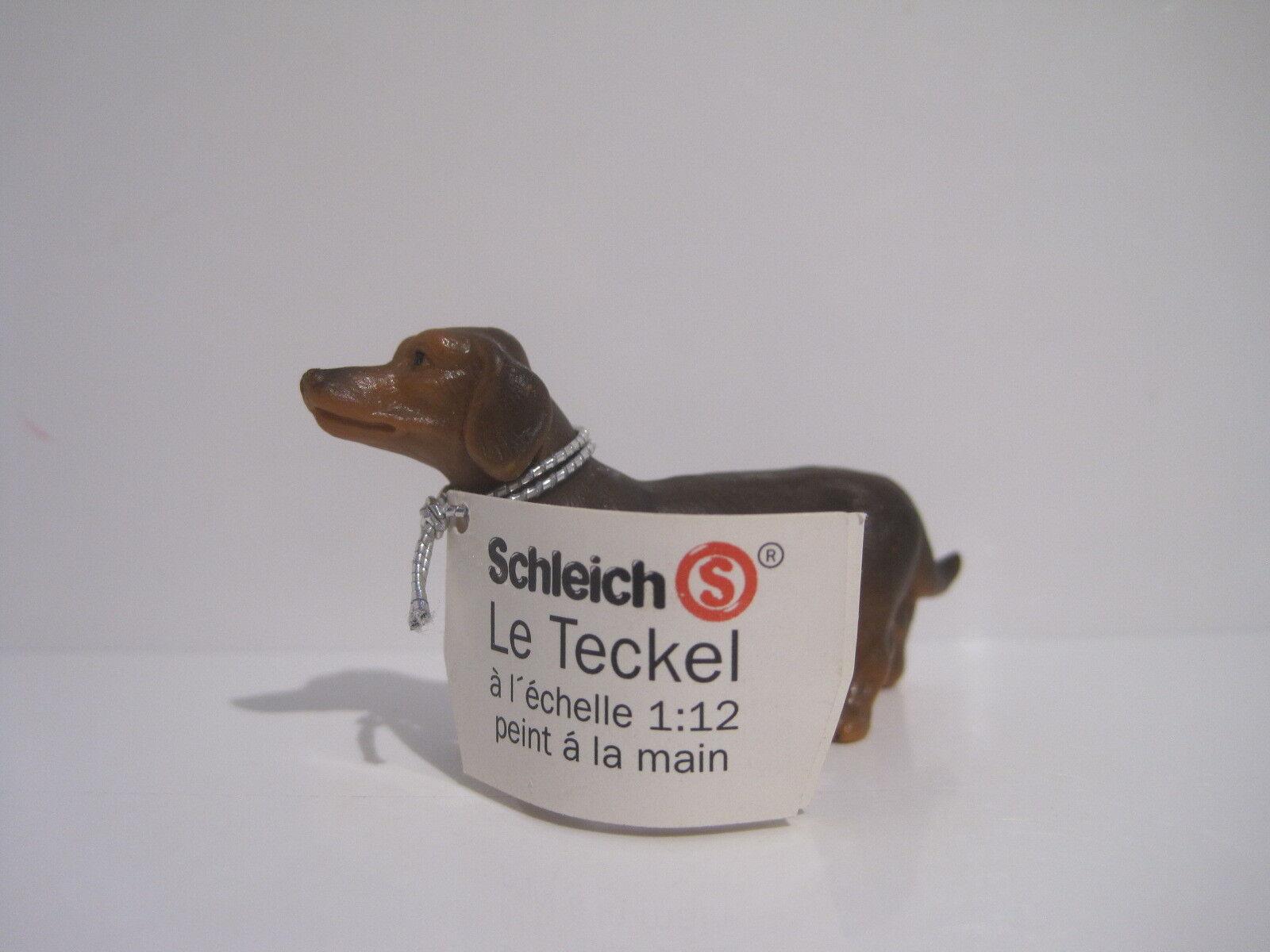 16308  Schleich Dog  Shorthaired Dachshund  booklet   ref 1D353