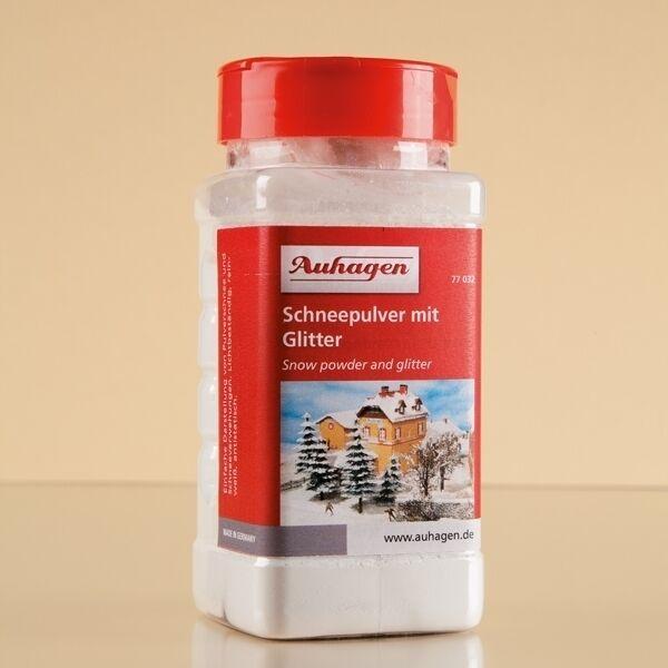 Auhagen H0, TT, N 77032: schneepulver CON GLITTER - 500 ml