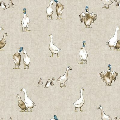 Pheasant Mini Prints Country Linen Look Fabric Curtain Upholstery Quilting