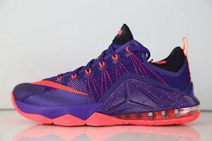 e4b3e55778f Nike Lebron XII Low Court Purple Bright Crimson 724557-565 7-14 12 8 ...