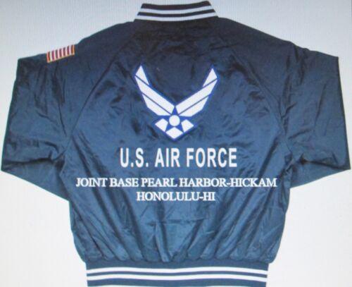 jas Joint Base Geborduurde Force satijnen AntonioAir dubbelzijdige San ymNwv8P0On