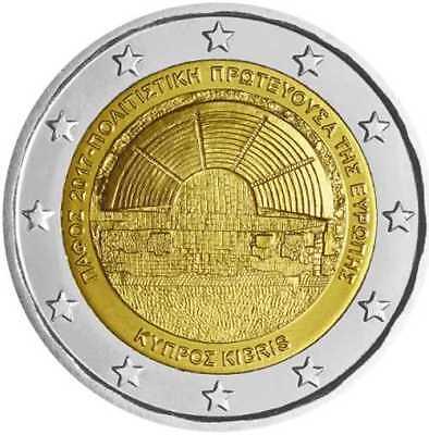 2 Euro Cyprus 2017 Paphos Unc European Capital of Culture 2017