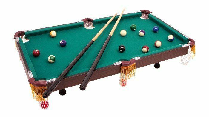 Biliardo da tavolo completo di accessori di gioco