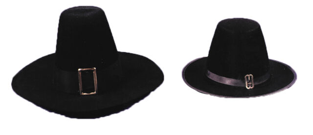 GA16MD Morris Costumes New Pilgrim Tradition Wool Blend Puritan Quality Hat M