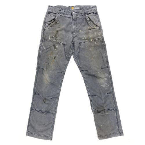 Vtg Carhartt Distressed Double Knee Work Pants Men