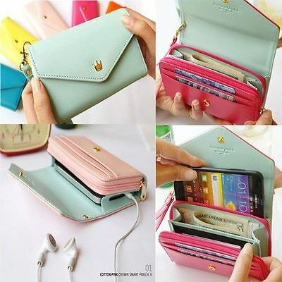 Lady Fashion Envelope Wallet Purse Bag Case For Samsung Galaxy S2 S3 iPhone4/4S