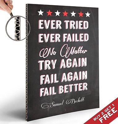 FAIL BETTER Quote Art Poster * A4 Print Typographic Design * Samuel Beckett