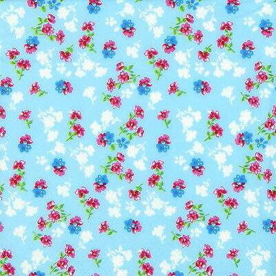 4x Paper Napkins for Decoupage Craft Millefleurs Light Blue