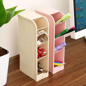 Plastic-Brush-Pen-Holder-Desk-Tidy-Organiser-Stationery-Office-School-W8H