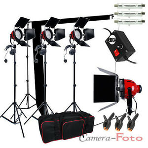 3x800W-Redhead-Continuous-Lighting-Kit-Video-Record-Black-White-Backdrop-Stand