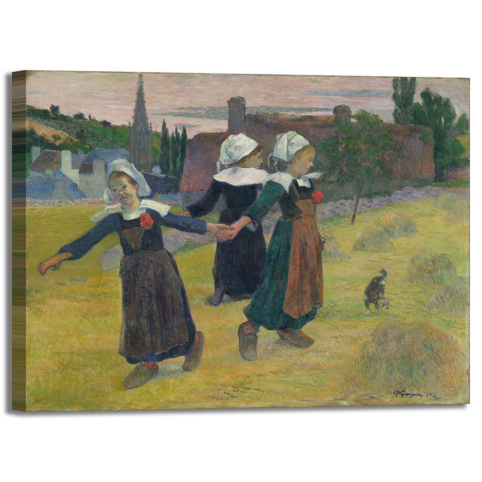 Gauguin ragazze bretoni ballano quadro o stampa tela dipinto telaio arRouge o quadro casa 0e6fcf