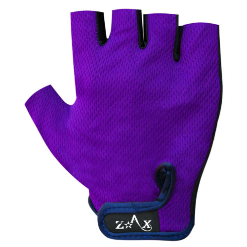 Mens Cycling Gloves Amara Leather Padded Cut Finger Mitts Mittens Sports