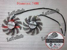 For MSI R6790 N560GTX R6850 N460GTX graphics dual-fan Power Logic PLD08010S12HH