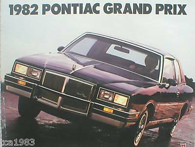 Kenntnisreich 1982 Pontiac Grand Prix Broschüre/katalog/broschüre Lj Brough