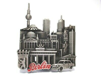 Berlin Metall Magnet Souvenir Brandenburger Tor Collage Mit Taxi Reich Und PräChtig