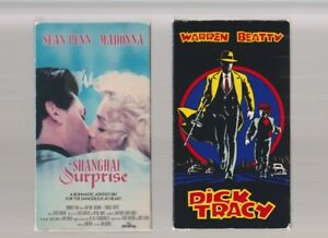 MADONNA-SHANGHAI-SURPRISE-VESTRON-amp-DICK-TRACY-VHS-video-Movie-THE