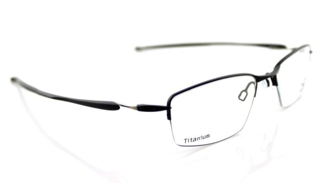 05eeee44088 NEW Authentic OAKLEY LIZARD Titanium Satin Black Eyeglasses Frame OX 5113  01 51