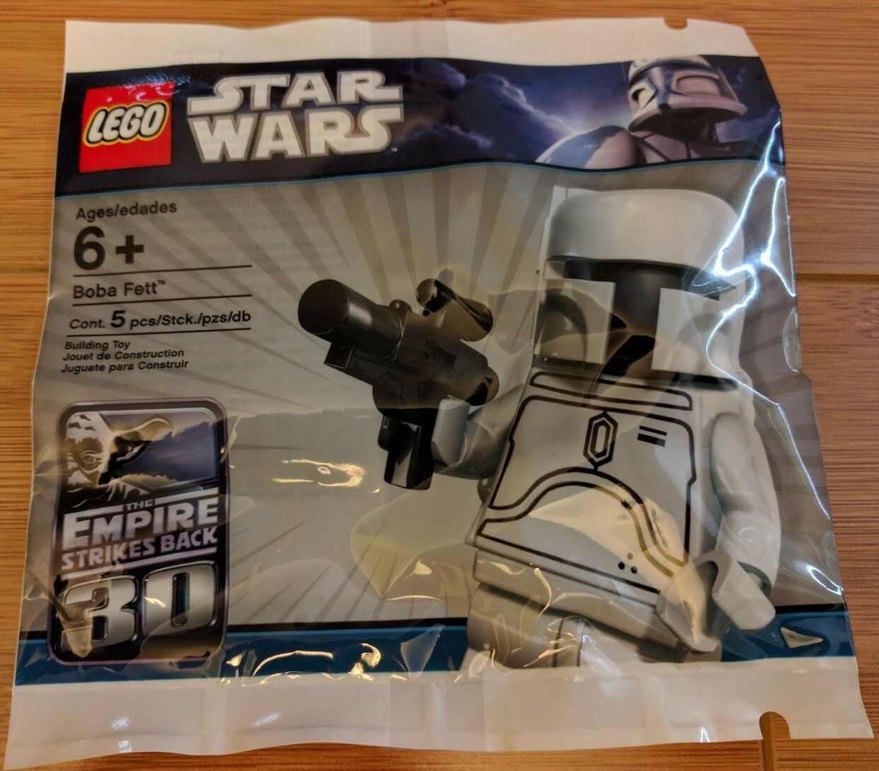 NEW LEGO Star Wars White Boba Fett Minifigure Ltd Edition 30th Anniversary