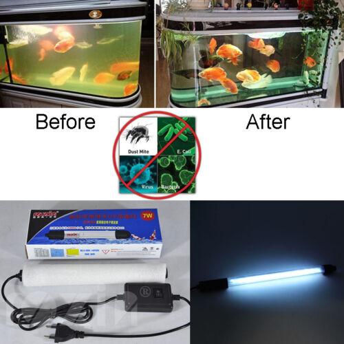 US Aquarium UV Sterilizer Light Submersible Water Clarifier Pond Fish Tank Lamp