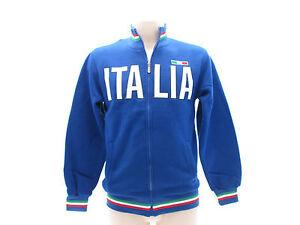 Felpa-Italia-Tricolore-65-Cotone-35-Poliestere-con-zip-Italia-Sweat-Sweatshirt