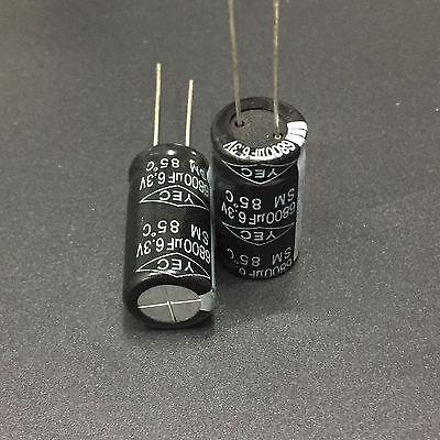 5pcs 6800uF 6.3V TaiWan YEC SM  6.3V6800uF Electrolytic Capacitor 12.5X25mm