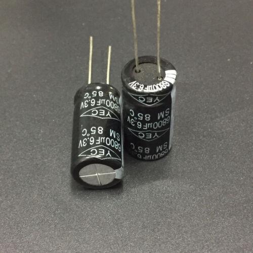10pcs 6.3V 6800uF 6.3V TaiWan YEC SM 12.5x25mm standard Electrolytic Capacitor