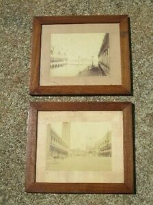 Square-Saint-Marco-Venice-2-Ancient-Photographs-Period-Xx-Century-with-Frame