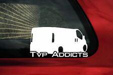 2x official TVP ADDICTS, Trafic Vivaro Primastar owners club stickers