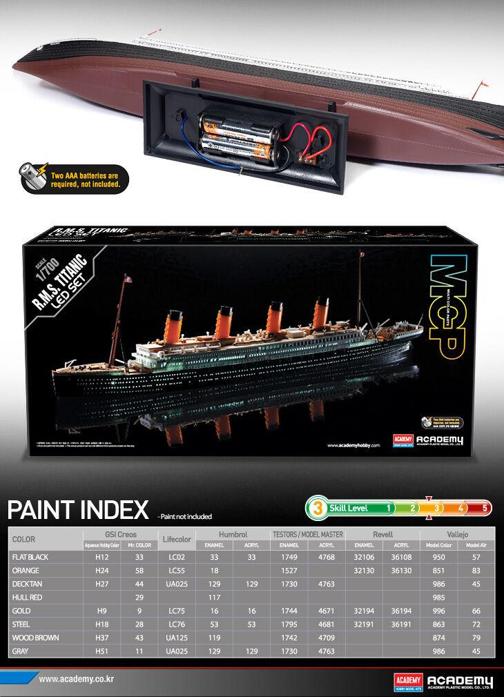 1 700 700 700 R.M.S.TITANIC LED SET  14220 MULTI Farbe PARTS ACADEMY HOBBY KITS 70374b