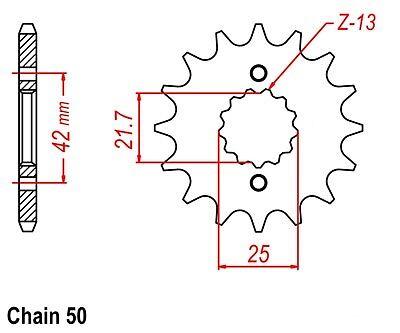 KAWASAKI ZX600 NINJA ZZR SPROCKET /& O-RING CHAIN SET 16//48 2003-2004 SLV