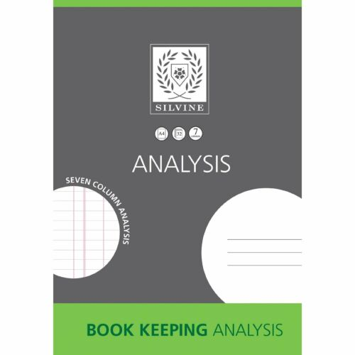 Silvine Book Keeping Analysis Book Small Business Accounts Home or Office