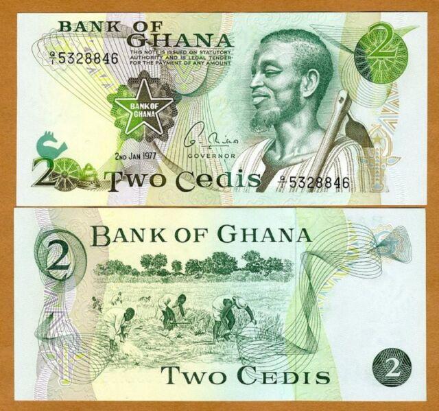 Ghana // Africa P-14 2-1-1977 14c 2 Cedis UNC