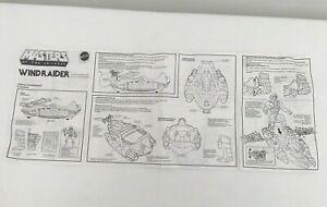 Vintage-Mattel-He-Man-MOTU-1980s-WINDRAIDER-Original-Instructions-sheet