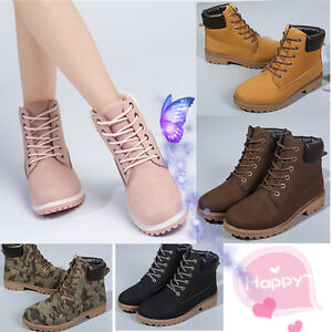 2017-Work-Boots-Women-039-s-Winter-Leather-Boot-Lace-up-Outdoor-Waterproof-Snow-Boot
