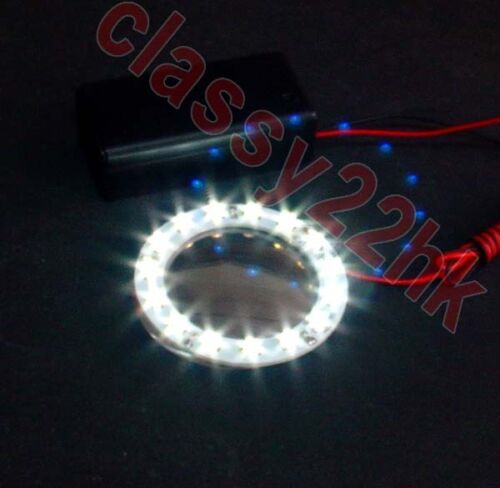 NEW 9 Voltage battery Holder w//Switch FOR LION DANCE PARTS 15 LED White ring