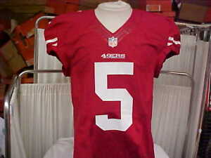 2012 NFL San Francisco 49ers Game Worn Team Issued Red Jersey Player ... 2b5e4a306