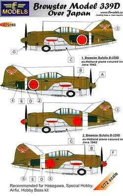LF Models Decals 1/72 BREWSTER MODEL 339D BUFFALO OVER JAPAN