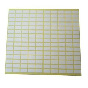 Details about 150 Sticky White Label 8x20 mm Small Price Tag Blank Sticker  Mark Self Adhesive