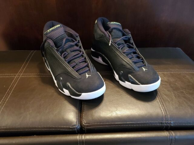 wholesale dealer 92b65 bf837 Nike Air Jordan 14 Retro Black Indiglo 487471 005 Men's Size 12