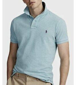 Details about Polo Ralph Lauren Men's SZ XL-Tall Classic Fit Mesh Polo Shirt Blue Heather