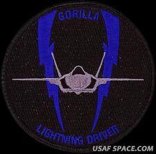 USAF 58th FIGHTER SQUADRON - GORILLA LIGHTNING DRIVER - NEW ORIGINAL VEL PATCH