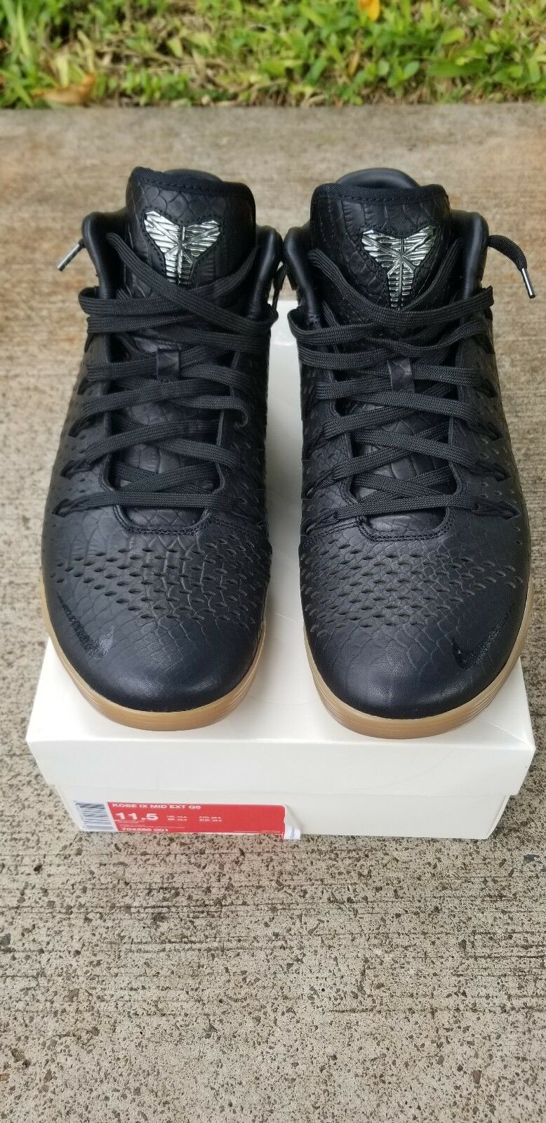 Nike Kobe IX 9 Mid EXT Black Gum Snakeskin Men's Size 11.5