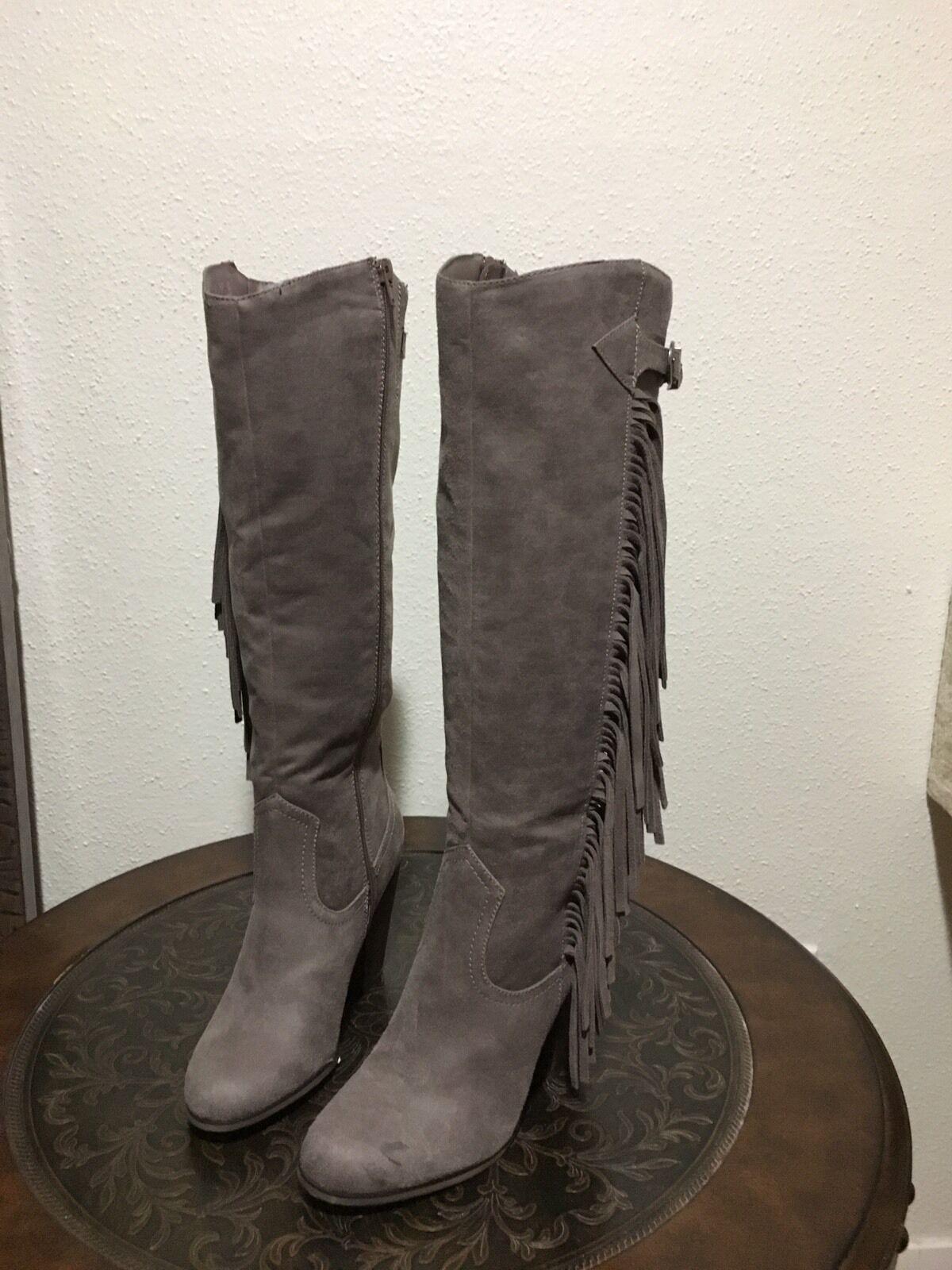 Carlos by Carlos Santana Women's NEW NWT Jasper Brown Fringe Size 7M Suede Boots