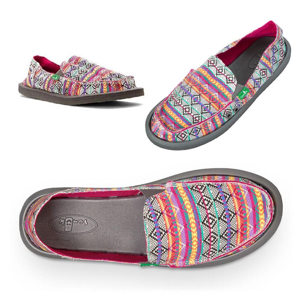 Sanuk Women's Donna Tribal Slip-On Sidewalk Surfer Shoes