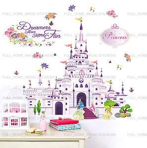 XL-Princess-Castle-Girls-Bedroom-Wall-Stickers-Art-Decal-Transaprent-Vinyl-Decor