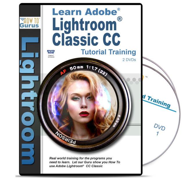 Adobe Lightroom Classic CC Tutorial Training on 2 DVDs 226 Videos 11 Hours