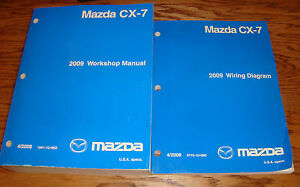 Original 2009 Mazda CX-7 Shop Service Manual + Wiring ...