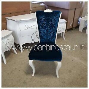 Sedia Stile Barocco Moderno Velluto Made In Italy Di Lusso | eBay