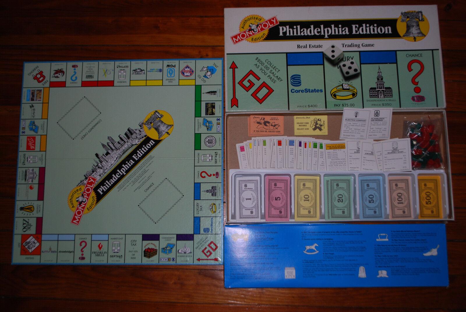 Ciudad de Filadelfia monopolio Juego De Mesa Collector's Edition - 100% Completo