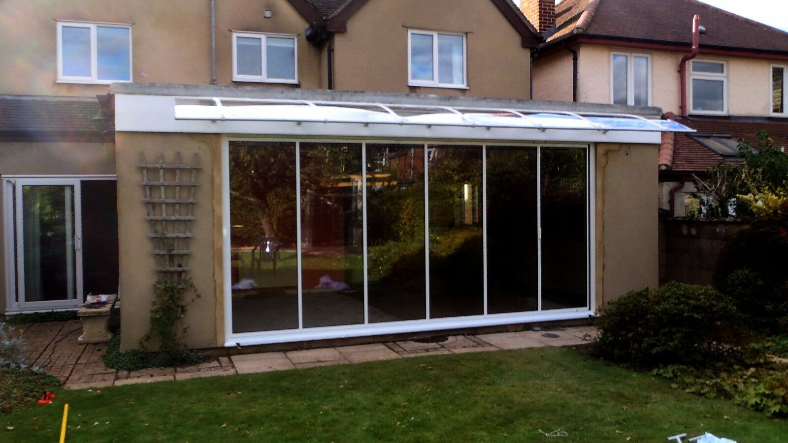1500x2000mm DIY Door Canopy Polycarbonate Cantilever Garden Garden Garden Porch Patio Walkway 6c8eee